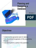 02 Planning and Designing a Database