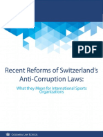 Recent Reforms of Switzerland's Anti-Corruption Laws