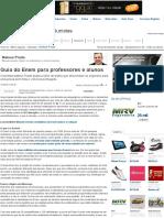 Guia Do Enem Para Professores e Alunos - Mateus Prado - IG