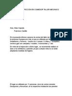 Informe Mantención Paredes de cocina de Taller.docx