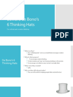 Edward de Bono's 6 Thinking Hats