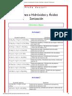 Soluciones a La Ejercitacion de Acidos, Hidroxidos. Ionizacion