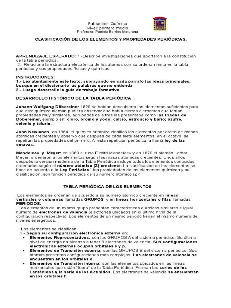 Quimicaguia sistema periodico 1 medioc urtaz Choice Image