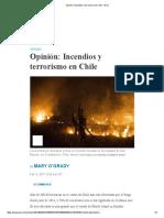 Opinión -  Incendios y Terrorismo en Chile