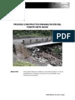 Proceso Constructivo Rehabilitación Del Puente Siete Veces