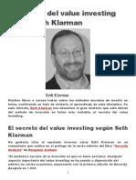 El Secreto Del Value Investing Según Seth Klarman