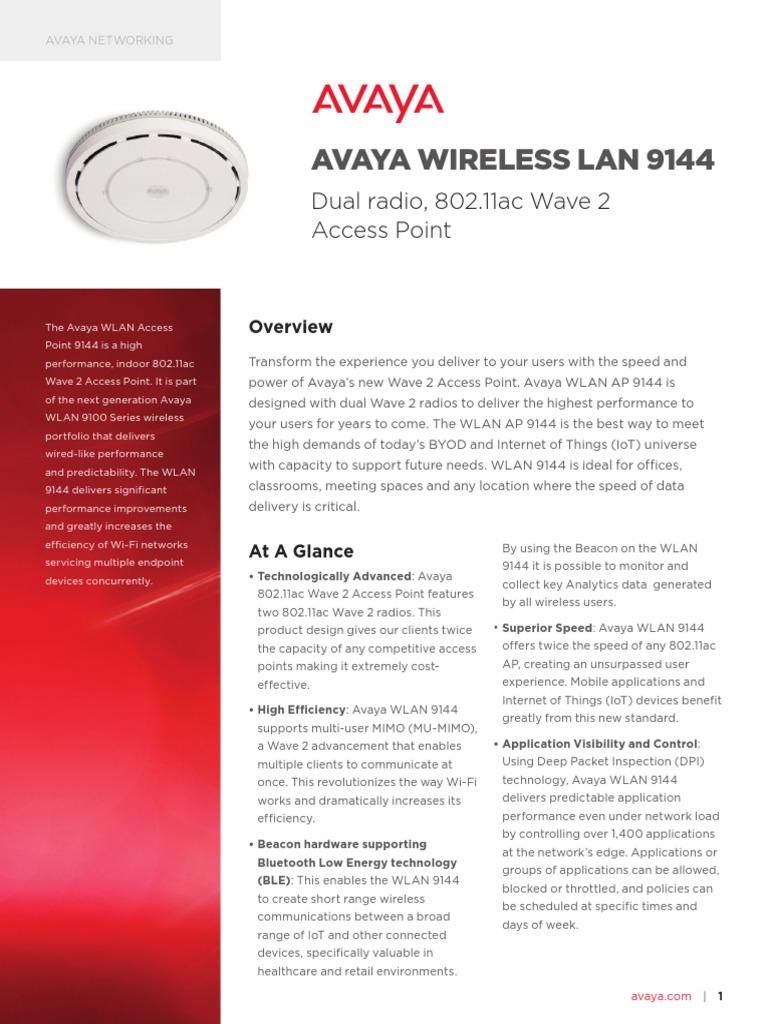 Avaya Wireless Lan 9144 Dn7784   Wireless Lan   Ieee 802 11