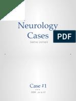 Neuro Case Presentations