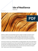 The Dark Side of Resilience