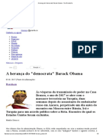 A Herança Do _democrata_ Barack Obama - Port.pravda
