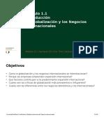 1.1 Globalizacion y Los Negocios Internacionales
