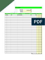Planilla de Excel Para El Registro de Kilometros y Reembolso