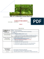 Lesson Plan Prof. Fred New