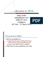 APRICOT2013 IPv6 Introduction