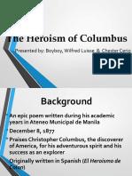 The Heroism of Columbus Wlb Cc