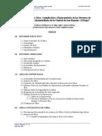 Liquidacion Tecnica de Obra - Especificaciones Tecnicas partidas ejecutadas.doc
