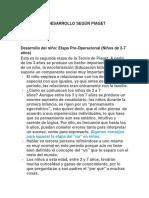 Teorias Del Desarrollo Según Piaget