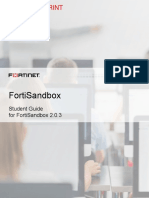 FortiSandbox Student Guide-Online