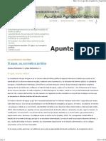 El aguas Apuntes Agroeconómicos - FAUBA