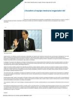 20-08-17 Respalda Senador Pablo Escudero Al Equipo Mexicano Negociador Del TLCAN