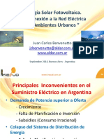 ARGENTINA Energia Solar Fotovoltaica - Sistemas Conectados a La Red