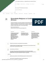 Plano de Aula - Diversidade Religiosa No Continente Africano