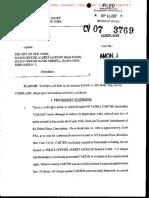 Tashia Carter v. The City of New York & Officer David Terrell