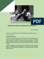 Comentarios a Ejercicio Soberania Bolivariana 2017