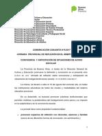 Jornada Provincial Convivencia Hostigamiento 14 de Agosto 2017.