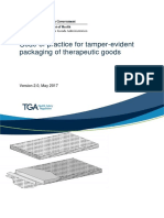Code Practice Tamper Evident Packaging Therapeutic Goods