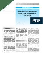 Perforacion Esofágica (Rev Medica de Costa Rica)