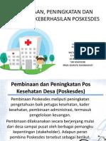 Pembinaan Dan Peningkatan Pos Kesehatan Desa (Poskesdes