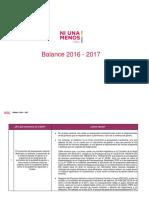 Balance 2016 - 2017