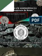 Introducción a la numismática y a la historia monetaria de Roma I