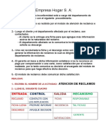 IDEF0 - Manejo de Reclamo