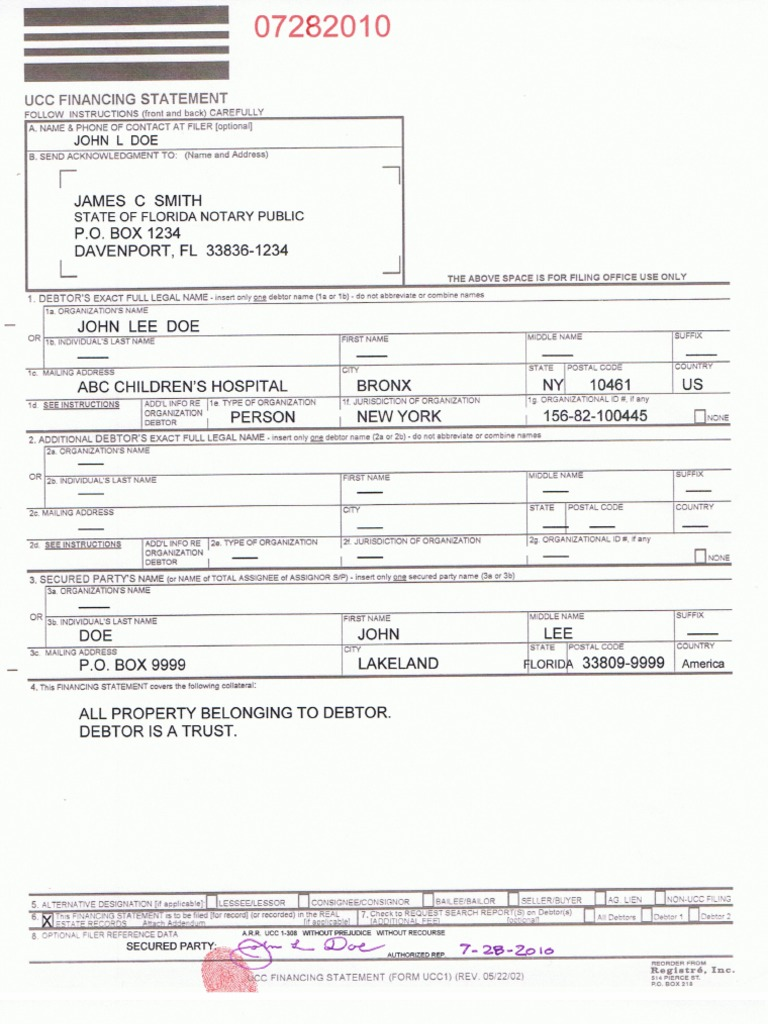 Sample ucc 1 property list platinumwayz