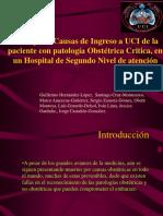 Principales causas de Ingreso a UCI de Pacientes Obstetricas.ppt