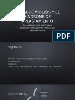 RABDOMIOLISIS y el SINDROME DE APLASTAMIENTO.pptx