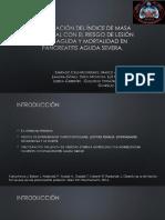 Relacion de IMC con la mortalidad y LRA en pancreatitis.pptx