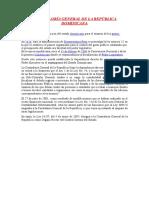 Historia Contraloría General de La República Dominicana