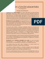 Fertilización y Función Placentaria