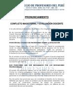 CONFLICTO MAGISTERIAL Y EVALUACIÓN DOCENTE