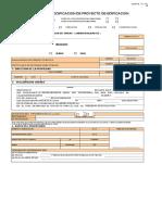 PE Modificacion de Proyecto de Edificacion Solicitud