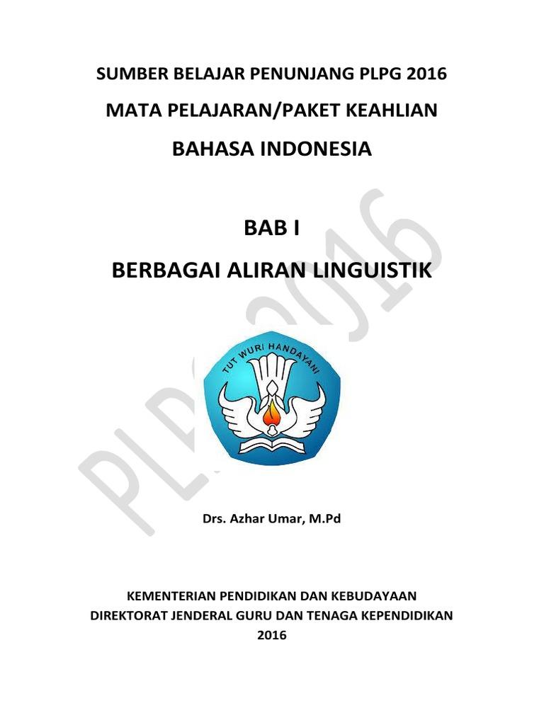 Bab 1 Berbagai Aliran Linguistik Pdf