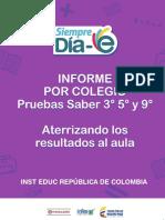 Informe Por Colegio Genérico 2015