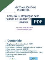Conf No3 QFD y El Proceso Creativo