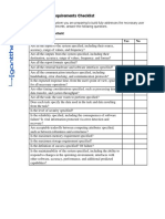 Requirements analysis with details