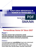 7.PERMEN NO.24_2007 Standar Sarana Prasarana.ppt