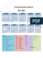 2017-2018 studio calendar