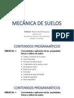 1. Mec. de Suelos - Presentacion y Taller